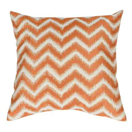 "Commonwealth Home Fashions Basir Chevron Throw Pillow - 18x18"" in Mango - Closeouts"