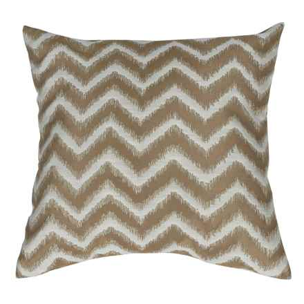 "Commonwealth Home Fashions Basir Chevron Throw Pillow - 18x18"" in Mushroom - Closeouts"