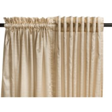 "Commonwealth Home Fashions Bellary Curtains - 95"", Faux Silk, Back Tab or Pole Top, Lined in Natural - Closeouts"