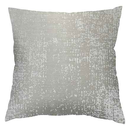 "Commonwealth Home Fashions Cindy Marble Throw Pillow - 18x18"" in Taupe - Closeouts"
