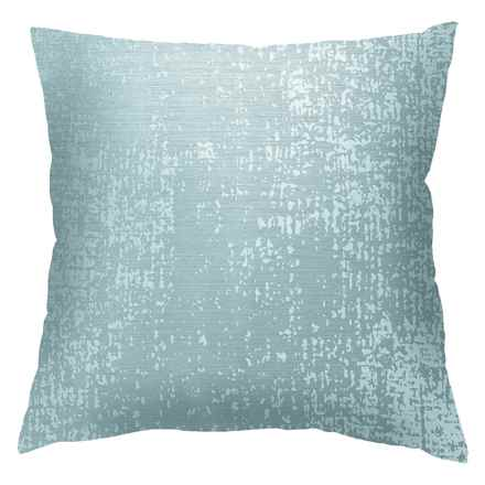 "Commonwealth Home Fashions Cindy Marble Throw Pillow - 18x18"" in Teal - Closeouts"