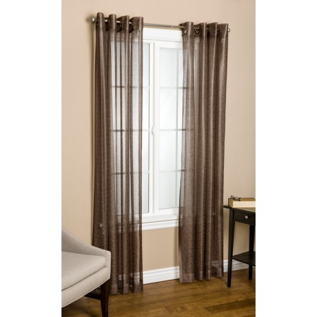 "Commonwealth Home Fashions Crescendo Curtains - 112x63"", Grommet-Top in Earth"