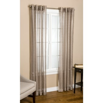 "Commonwealth Home Fashions Crescendo Curtains - 84"", Grommet-Top in Brown Rice"