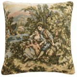 """Commonwealth Home Fashions Floral Tapestry Decorative Pillow - 15x15"""""""