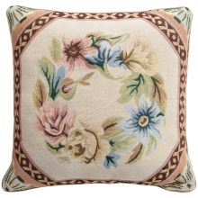 "Commonwealth Home Fashions Floral Tapestry Decorative Pillow - 15x15"" in Octagon Floral - Closeouts"