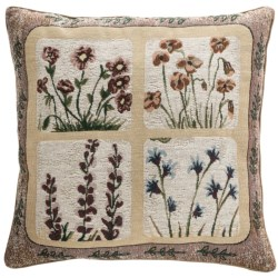 "Commonwealth Home Fashions Floral Tapestry Decorative Pillow - 15x15"" in Round Bouquet"