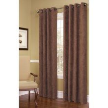 """Commonwealth Home Fashions Garbo Herringbone Curtains - 100x63"""", Grommet-Top in Chocolate - Closeouts"""