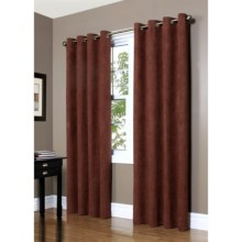"Commonwealth Home Fashions Garbo Herringbone Curtains - 63"", Grommet-Top in Sienna - Closeouts"