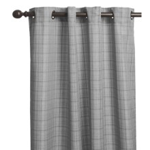 "Commonwealth Home Fashions Glen Plaid Curtains - 84"", Grommet-Top in Black - Overstock"