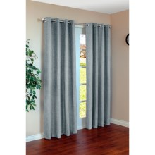 "Commonwealth Home Fashions Harris Curtains - 110x84"", Grommet-Top in Teal - Closeouts"