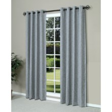 "Commonwealth Home Fashions Highland Tweed Curtains - 84"", Grommet-Top in Blue - Overstock"