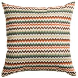 "Commonwealth Home Fashions Hiro Ric Rac Decor Pillow - 18x18"" in Aqua"