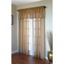 "Commonwealth Home Fashions Honeycomb Curtains - 84"", Pole-Top, Semi Sheer in Taupe/Gold - Closeouts"