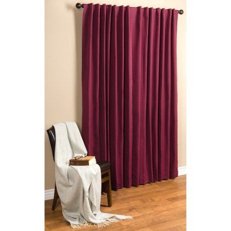 "Commonwealth Home Fashions Hotel Chic Blackout Curtains - 100x84"", Tab-Top in Burgundy"