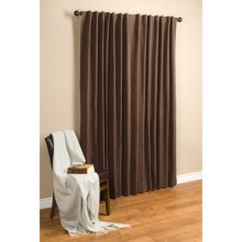 "Commonwealth Home Fashions Hotel Chic Blackout Curtains - 100x84"", Tab Top in Chocolate - Closeouts"
