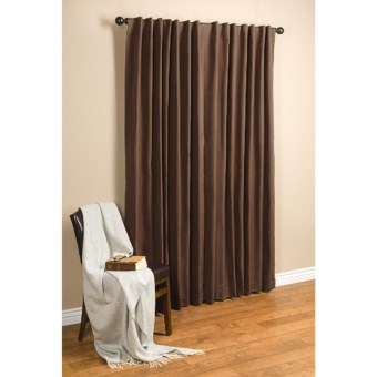 "Commonwealth Home Fashions Hotel Chic Blackout Curtains - 100x84"", Tab Top in Chocolate"