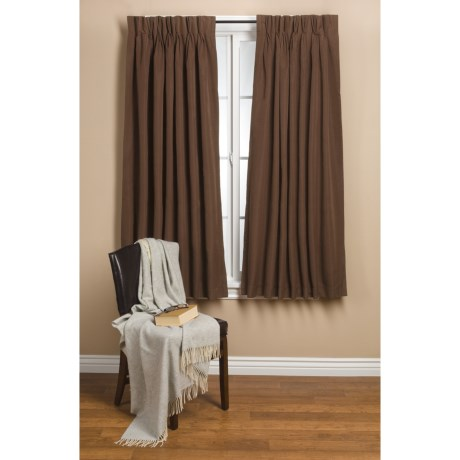 """Commonwealth Home Fashions Hotel Chic Blackout Curtains - 120x84"""", Pinch Pleat in Chocolate"""