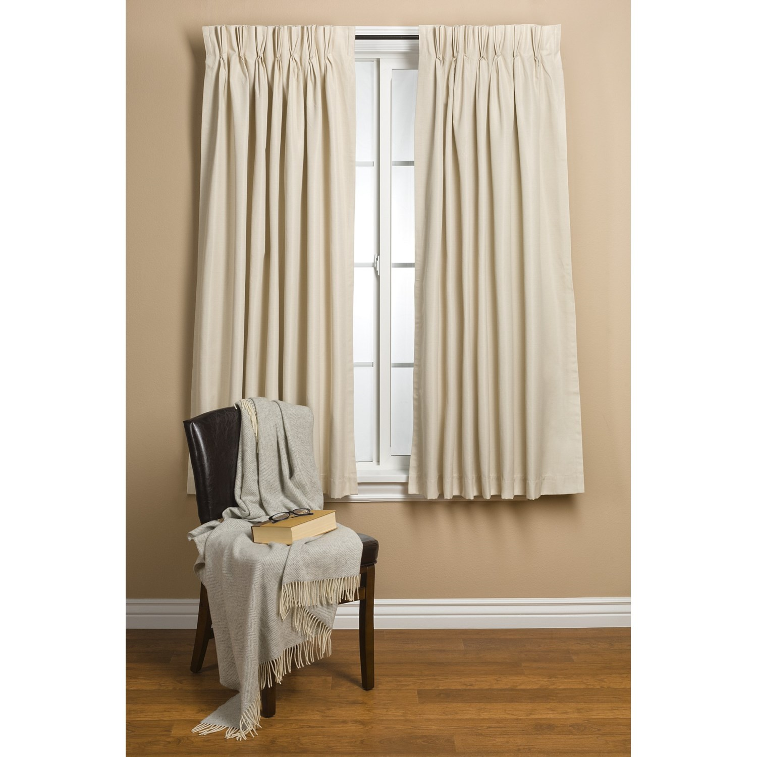 Commonwealth Home Fashions Hotel Chic Blackout Curtains 48x63 Pinch Pleat Save 50