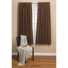"Commonwealth Home Fashions Hotel Chic Blackout Curtains - 72x63"", Pinch Pleat in Chocolate - Closeouts"