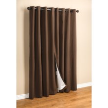"Commonwealth Home Fashions Hotel Chic Blackout Curtains - 84"", Grommet-Top in Chocolate - Closeouts"