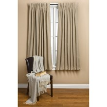 "Commonwealth Home Fashions Hotel Chic Blackout Curtains - 84"", Pinch Pleat in Hazelnut - Closeouts"