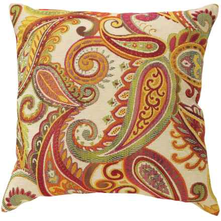 "Commonwealth Home Fashions Jacquard Throw Pillow - 17"" in Amiera Paisley Sunset - Closeouts"