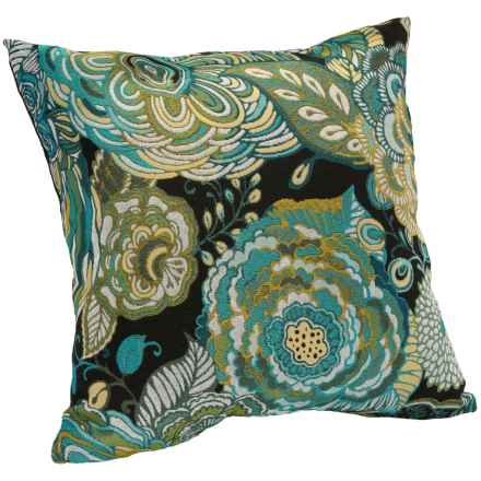 "Commonwealth Home Fashions Jacquard Throw Pillow - 17"" in Benevolent Peacock - Closeouts"