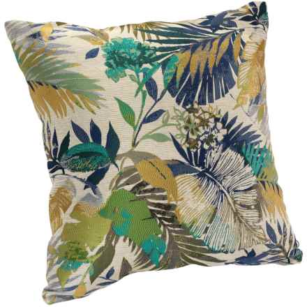 "Commonwealth Home Fashions Jacquard Throw Pillow - 17"" in Tavalu Evergreen - Closeouts"