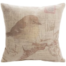 "Commonwealth Home Fashions Little Bird Decor Pillow - 12x12"" in Yellow - Closeouts"