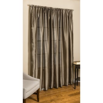 "Commonwealth Home Fashions Loft Living Curtains - 108"", Pole-Top, Faux Silk in Bamboo"