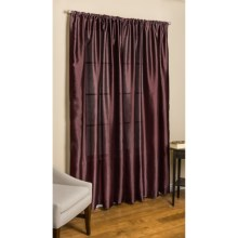 "Commonwealth Home Fashions Loft Living Curtains - 108x84"", Pole-Top, Faux Silk in Brick - Overstock"