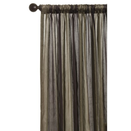 "Commonwealth Home Fashions Loft Living Curtains - 108x95"", Pole-Top, Faux Silk in Beige Earth Stripe"