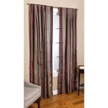 "Commonwealth Home Fashions Loft Living Curtains - 108x95"", Pole-Top, Faux Silk in Beige Red Stripe - Overstock"