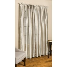"Commonwealth Home Fashions Loft Living Curtains - 84"", Pole-Top, Faux Silk in Bone - Overstock"