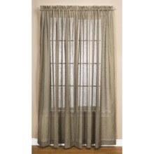 "Commonwealth Home Fashions Natures Way Embroidered Sheer Curtains - 108x84"", Pole-Top in Brown Rice - Closeouts"