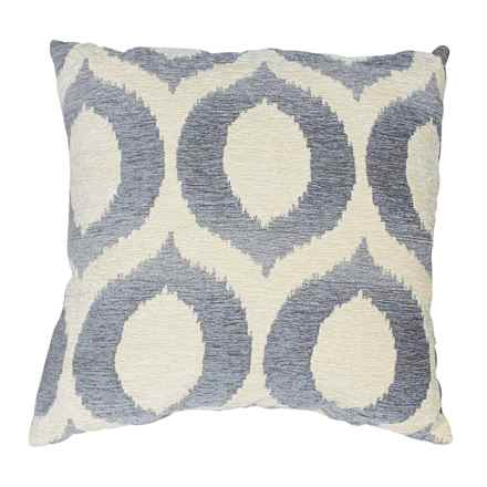 "Commonwealth Home Fashions Olson Throw Pillow - 18x18"" in Cloud - Closeouts"