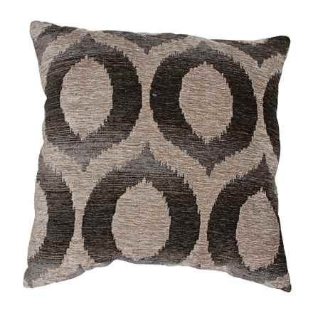 "Commonwealth Home Fashions Olson Throw Pillow - 18x18"" in Graphite - Closeouts"
