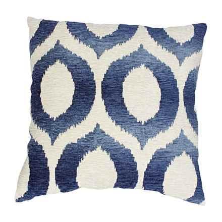 "Commonwealth Home Fashions Olson Throw Pillow - 18x18"" in Indigo - Closeouts"