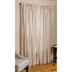 "Commonwealth Home Fashions Paris Cornelli Curtains - 120x84"", Pinch Pleat, Voile in Mushroom"