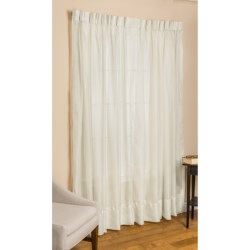 "Commonwealth Home Fashions Paris Cornelli Curtains - 72x84"", Pinch Pleat, Voile in Ivory"