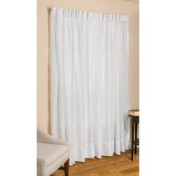 """Commonwealth Home Fashions Paris Cornelli Curtains - 72x84"""", Pinch Pleat, Voile in White"""