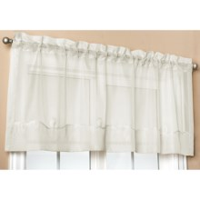 "Commonwealth Home Fashions Paris Cornelli Valance - 54x20"", Pole-Top in Ivory - Closeouts"