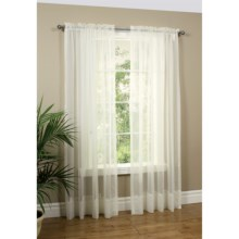 "Commonwealth Home Fashions Paris Sheer Cornelli Curtains - 108x84"", Rod Pocket in Ivory - Overstock"