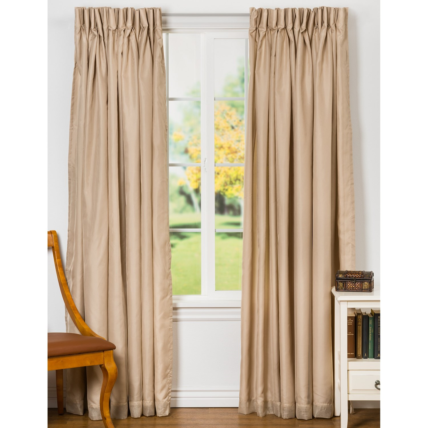 Commonwealth Home Fashions Rhapsody Semi Sheer Curtains 120x84 Pinch Pleat Insulated Save 59
