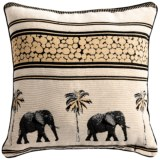 Commonwealth Home Fashions Safari Tapestry Decorative Pillow - 15x15""