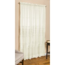 "Commonwealth Home Fashions St. James Sheer Curtains - 95"", Pole Top in Ivory - Closeouts"