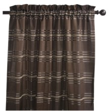 "Commonwealth Home Fashions Tartan Curtains - 84"", Pole-Top in Brown - Closeouts"
