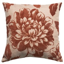 "Commonwealth Jacquard Throw Pillow - 18x18"" in Coral Flock - Closeouts"