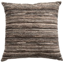 "Commonwealth Jacquard Throw Pillow - 18x18"" in Grey Stria - Closeouts"