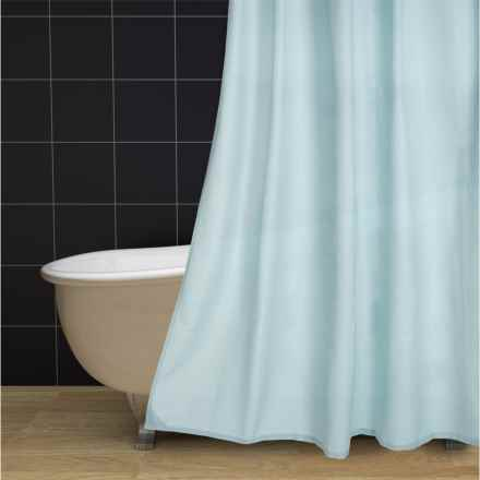 "Commonwealth Textured Classic Shower Curtain - 70x72"" in Powder Blue - Closeouts"